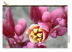 Red Yucca Macro Carry-all Pouch by Russell Keating