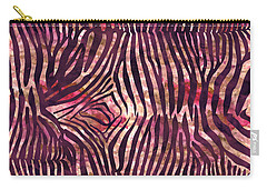 Red Zebra Print Carry-all Pouch