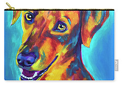 Redbone Coonhound - Yellow Carry-all Pouch