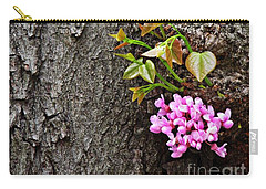 Redbud Flowers 2 Carry-all Pouch by Sarah Loft