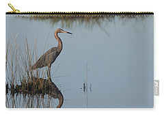 Reddish Egret And Reflection In The Morning Light Carry-all Pouch