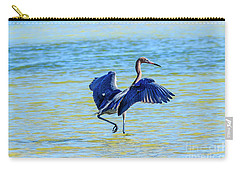 Reddish Egret On The Hunt Carry-all Pouch