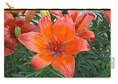 Reddish Orange Flower Carry-all Pouch by Catherine Gagne
