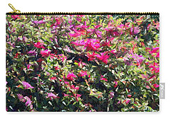 Reddish Pink Crackled Flowers Carry-all Pouch