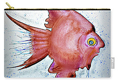 Carry-all Pouch featuring the mixed media Redfish by Walt Foegelle