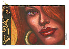 Carry-all Pouch featuring the painting Redhead by Alga Washington