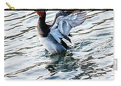 Redhead With Wings Outstretched Behind Him Carry-all Pouch