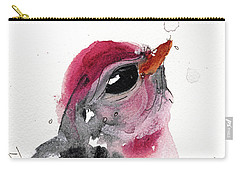 Carry-all Pouch featuring the painting Redpole by Dawn Derman