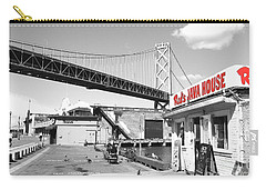 Reds Java House And The Bay Bridge In San Francisco Embarcadero . Black And White And Red Carry-all Pouch