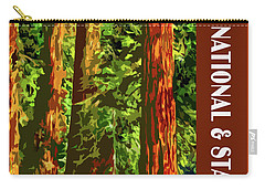 Redwood National Park Carry-all Pouch by Chuck Mountain