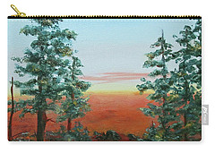 Carry-all Pouch featuring the painting Redwood Overlook by Roseann Gilmore