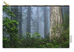 Redwoods In Blue Fog Carry-all Pouch