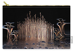 Carry-all Pouch featuring the digital art Reeds On Fire by Melissa Messick