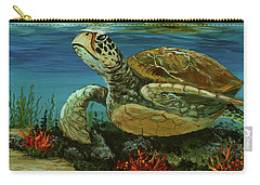 Carry-all Pouch featuring the painting Reef Honu by Darice Machel McGuire