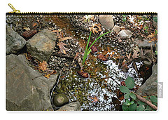 Carry-all Pouch featuring the photograph Refections Of A Forest Stream by Michele Myers