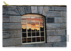 Reflected Sunset Sky Carry-all Pouch by Helen Northcott