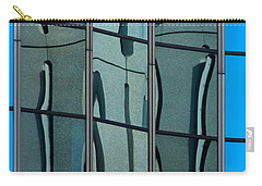 Carry-all Pouch featuring the photograph Reflecting Eagle 1 by Werner Padarin