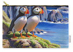 Reflecting - Horned Puffins - Coastal Alaska Landscape Carry-all Pouch