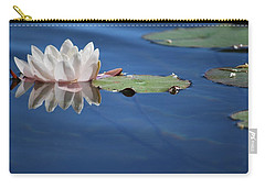 Carry-all Pouch featuring the photograph Reflecting In Blue Water by Amee Cave