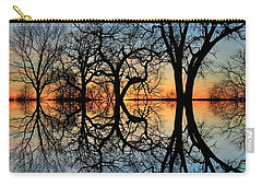 Carry-all Pouch featuring the photograph Reflecting On Tonight by Chris Berry