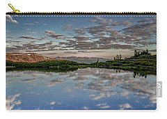 Carry-all Pouch featuring the photograph Reflection In A Mountain Pond by Don Schwartz
