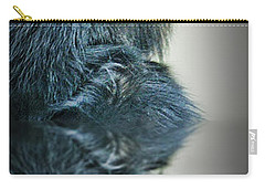 Carry-all Pouch featuring the photograph Reflection Of A Francois Langur Monkey  by Jim Fitzpatrick