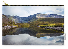Carry-all Pouch featuring the photograph Reflection Of The Macgillycuddy's Reeks In Lough Eagher by Semmick Photo
