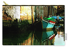 Reflection Of The Wooden Boat Carry-all Pouch