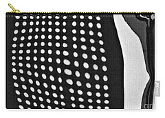 Carry-all Pouch featuring the photograph Reflection On 42nd Street 1 Grayscale by Sarah Loft