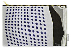 Carry-all Pouch featuring the photograph Reflection On 42nd Street 1 Negative by Sarah Loft