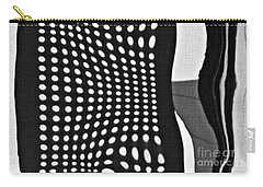Carry-all Pouch featuring the photograph Reflection On 42nd Street 2 Grayscale by Sarah Loft