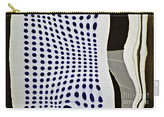 Carry-all Pouch featuring the photograph Reflection On 42nd Street 2 Negative by Sarah Loft