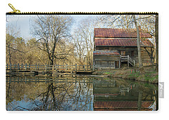 Carry-all Pouch featuring the photograph Reflection On A Grist Mill by George Randy Bass