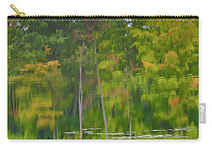 Carry-all Pouch featuring the photograph Reflection On Muskrat Pond by Gary Hall