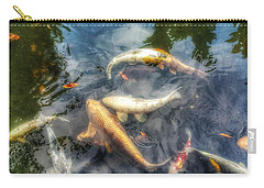 Reflections And Fish 2 Carry-all Pouch by Isabella F Abbie Shores FRSA