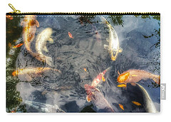 Reflections And Fish 3 Carry-all Pouch by Isabella F Abbie Shores FRSA