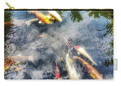 Reflections And Fish 4 Carry-all Pouch by Isabella F Abbie Shores FRSA