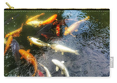Reflections And Fish 5 Carry-all Pouch by Isabella F Abbie Shores FRSA