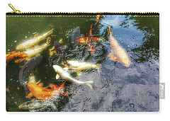 Reflections And Fish 6 Carry-all Pouch by Isabella F Abbie Shores FRSA