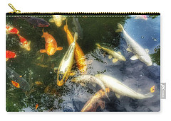 Reflections And Fish 7 Carry-all Pouch by Isabella F Abbie Shores FRSA