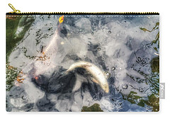 Reflections And Fish 8 Carry-all Pouch by Isabella F Abbie Shores FRSA