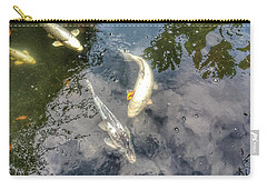 Reflections And Fish 9 Carry-all Pouch by Isabella F Abbie Shores FRSA