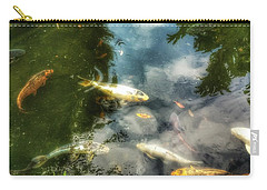 Reflections And Fish  Carry-all Pouch by Isabella F Abbie Shores FRSA
