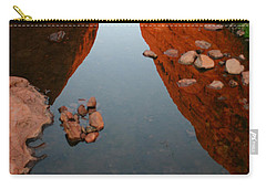 Carry-all Pouch featuring the photograph Reflections At Kata Tjuta In The Northern Territory by Keiran Lusk