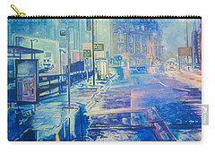 Reflections At Night In Manchester Carry-all Pouch