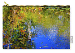 Carry-all Pouch featuring the photograph Reflections In A Pond by Gary Hall