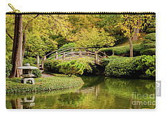 Carry-all Pouch featuring the photograph Reflections In The Japanese Garden by Iris Greenwell
