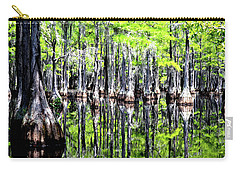 Reflections Of A Cypress Forest Carry-all Pouch