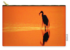 Reflections Of A Heron Carry-all Pouch