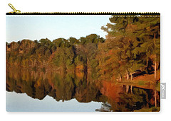 Carry-all Pouch featuring the painting Reflections Of A Pennsylvania Autumn by David Dehner